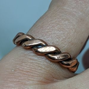 Jewelry - Vintage Solid Copper Braid Boho Band Ring Size 6